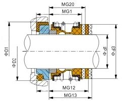 Чертеж burgman MG1 /MG12 / MG13